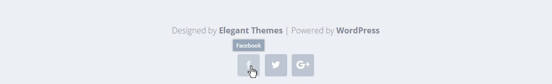 Displaying social network name as tooltip on hover