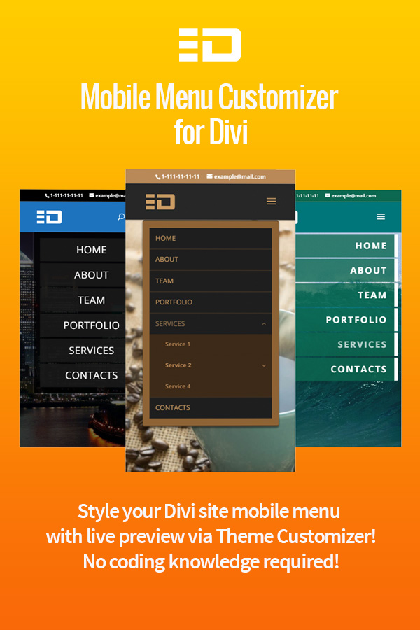 Mobile Menu Customizer for Divi