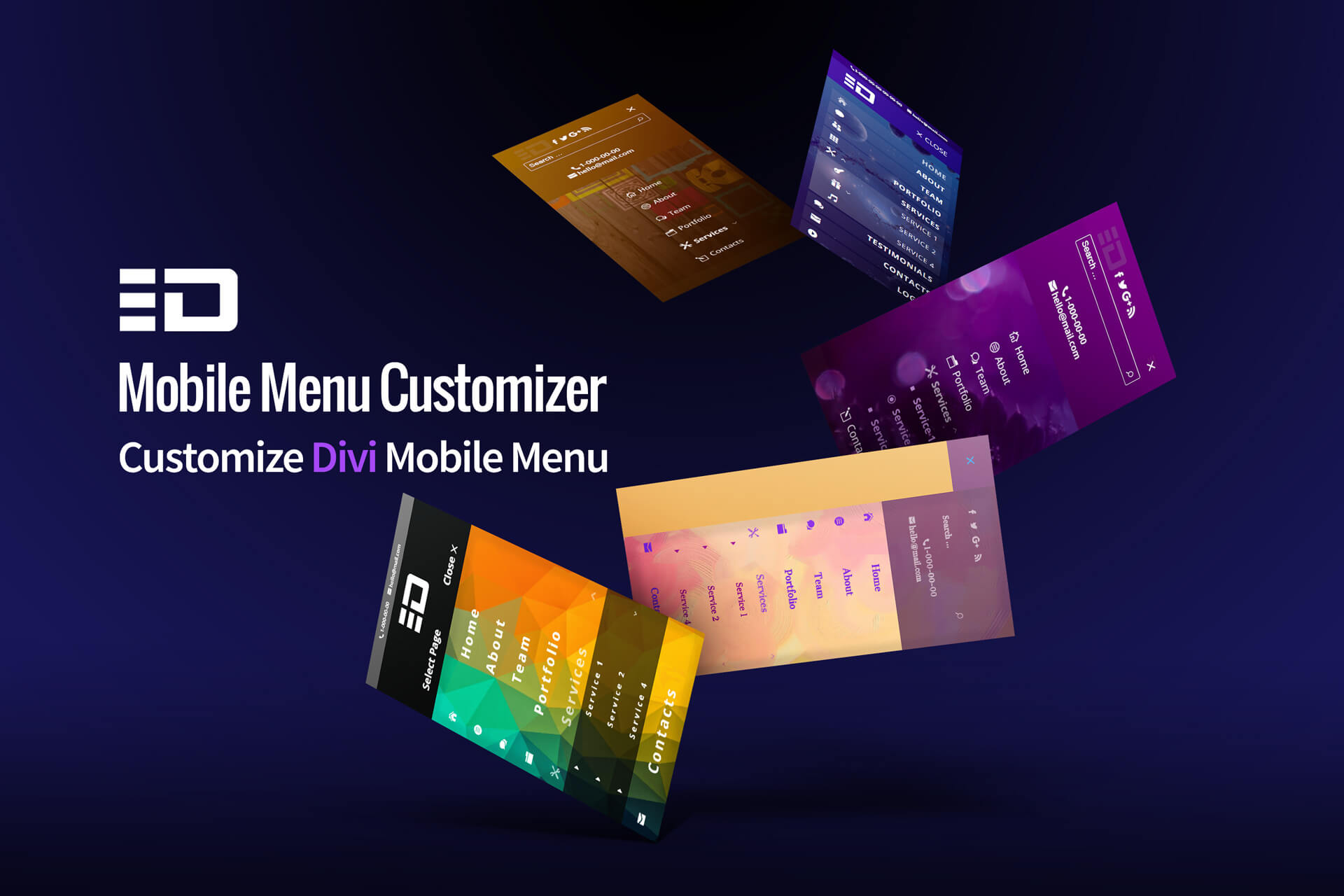 Divi mobile menu customizer plugin - Divi mobile menu ...