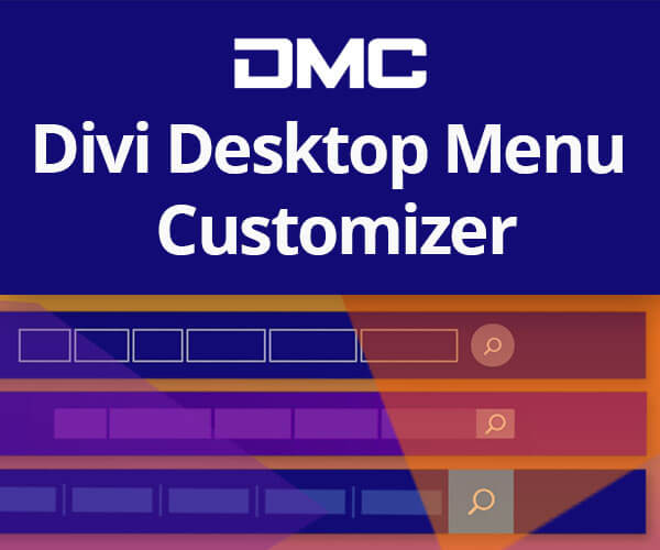 Divi Desktop Menu Customizer