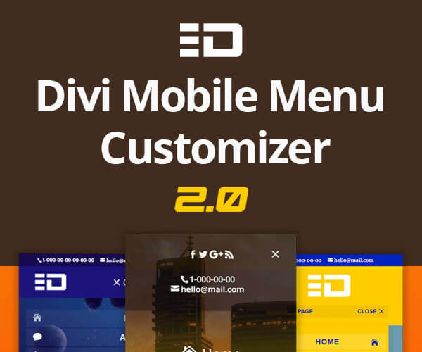 Divi Mobile Menu Customizer