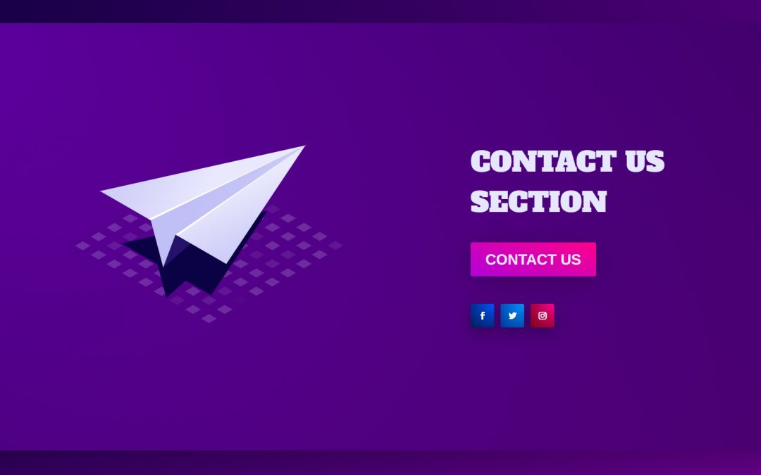 Free Download: Divi Fullscreen Contact Section with Animated SVG